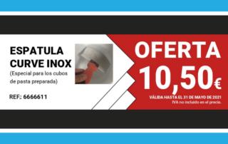 Oferta del mes: ESPATULA CURVE INOX